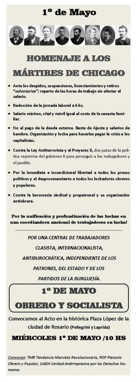1º de Mayo OBRERO Y SOCIALISTA